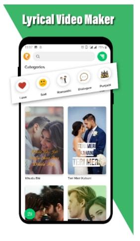 Lovely - Lyrical Video Status Maker - Video Maker App Download